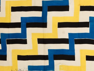 Textile, Tissu Simultané no. 46 (Simultaneous Fabric no. 46), 1924; Designed by Sonia Delaunay (French b. Russia, 1885–1979)
