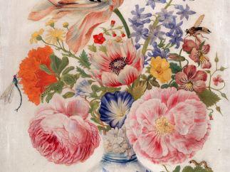'Chinesische Vase mit Rosen, Mohn und Nelken', um 1670-1680