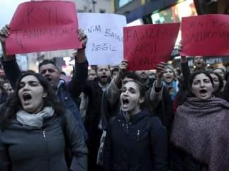 Manifestacion en Turquía