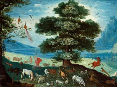 Adam Naming the Animals - Circle of Roelandt Savery