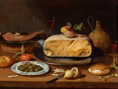 Still Life with Cheese - circle of Jan Van Kessel II, c. 1650