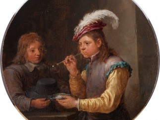 David Teniers the Younger - Boy Blowing Bubbles, c.1640