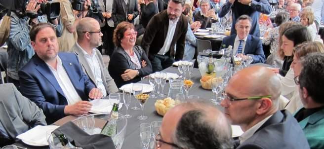 El conseller Oriol Junqueras en el almuerzo-debate Moment Zero.