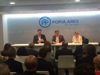 Martínez Maíllo, en la sede del PP de Zamora.