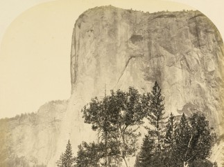 Carleton E. Watkins, Tutueamela, El Capitan, 3000 tf, Yosemite, 1861