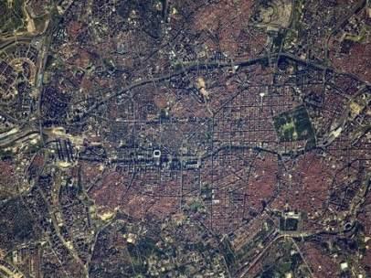 Madrid vista desde el espacio.