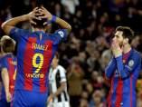 Messi y Suárez ante la Juventus
