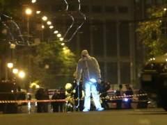 Bomba en un banco de Atenas