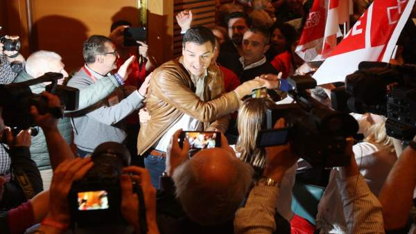 El candidato de las primarias para la Secretaría General del PSOE Pedro Sánchez