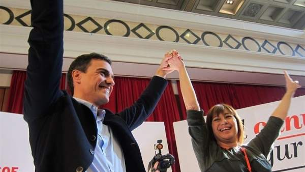 Francina Armengol y Pedro Sánchez