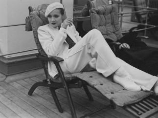 Marlene Dietrich on the SS Europa, 1933, Cherbourg, France by Paul Cwojdzinski Photograph 1933
