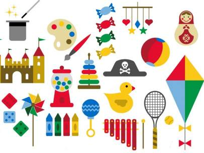 Ilustración de juguetes.