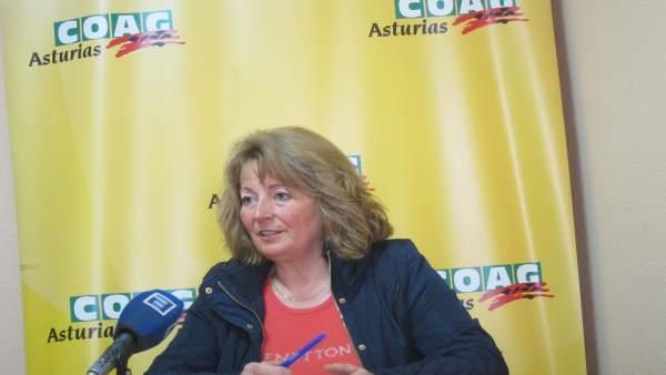 Mercedes Cruzado, COAG Asturias