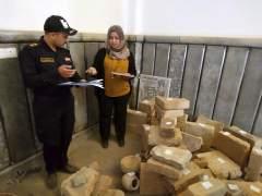 Hallan en Mosul piezas arqueológicas que EI no pudo vender