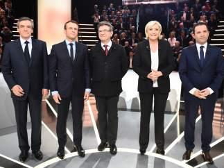 Candidatos en las presidenciales francesas