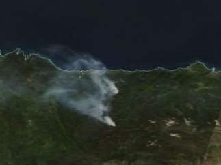Fuego en Asturias
