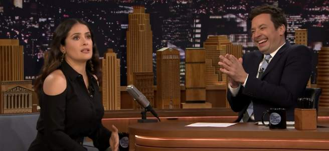 Salma Hayek en The Tonight Show Starring Jimmy Fallon