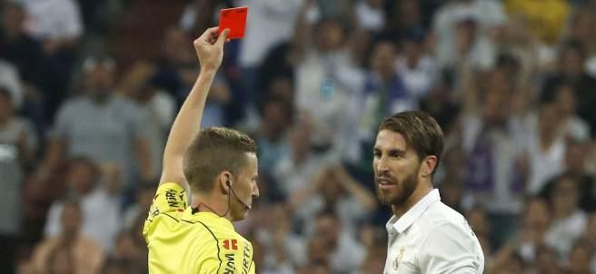 Roja a Sergio Ramos