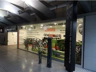 En la imagen el servicio de alquiler de bicicletas de  la estación de FGC de la UAB.
