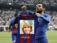 Meme de Messi y Esperanza Aguirre