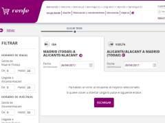 La web de Renfe, con problemas al ponense a la venta 25.000 billetes baratos