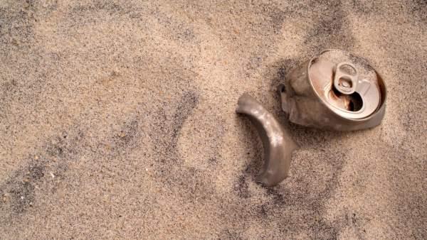 Playa, contaminación, sucia