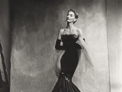 Irving Penn (American, 1917–2009) - Rochas Mermaid Dress (Lisa Fonssagrives-Penn), Paris, 1950