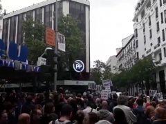 Cacerolada frente a la sede del PP por los casos de corrupción