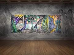 Chris Ofili traslada a tapiz la exuberante magia caribeña