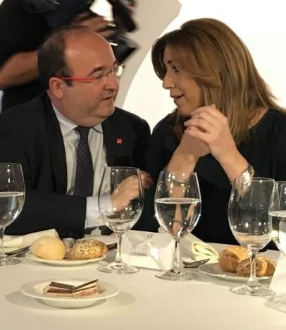 Miquel Iceta (PSC) y Susana Díaz (PSOE)