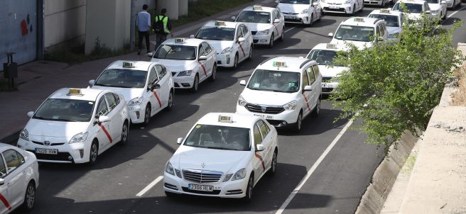 Manifestación de taxis
