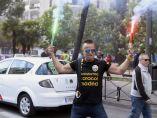 Los taxistas, en huelga