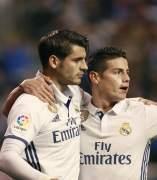 Morata y James