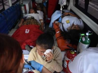 Estudiantes atropellados en Guatemala