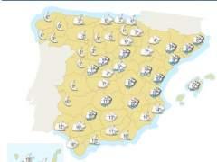 La nieve y el viento activan la alerta en 14 provincias de 8 comunidades