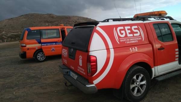 Vehículos de emergencias en Canarias