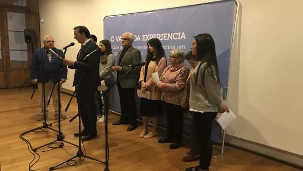 Acto social en Afundación en Santiago