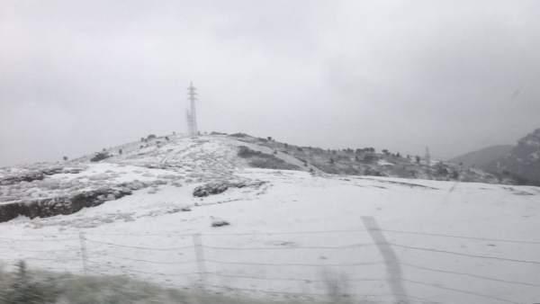 Les pluges deixen fins a 44 l/m2 a la Comunitat Valenciana i neu a l'interior de Castelló