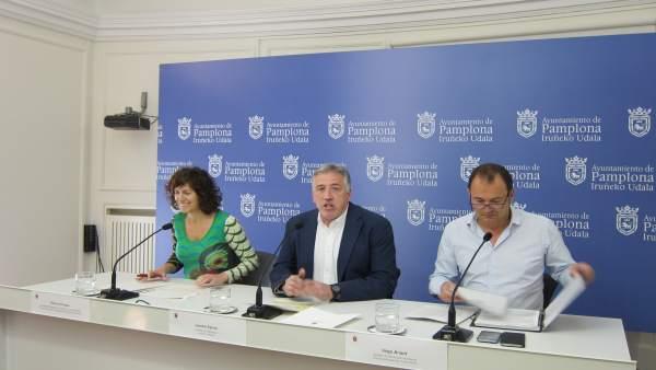 Presentación del convenio del Ayuntamiento de Pamplona 2017-2019