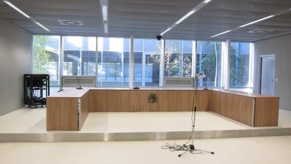 Sala de Audiencia Provincial del nuevo Palacio de Justicia de La Rioja