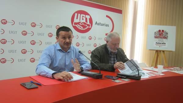 Javier Lanero (izquierda) y Antonio Pino, en rueda de prensa.