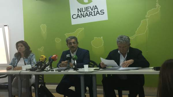 Rueda de prensa de Nueva Canarias