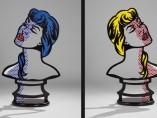 Roy Lichtenstein - Woman: Sunlight, Moonlight