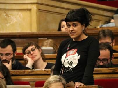 Anna Gabriel, portavoz de la CUP en el Parlament