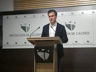Fernando García Nicolás, portavoz de la Diputación de Cáceres