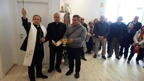 Soria: bendición de la nueva tienda de Cáritas