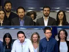 Iglesias, Montero y Domènech: los rostros de los supervivientes de Podemos