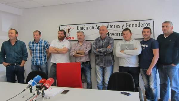 La Junta Permanente de UAGN en la rueda de prensa