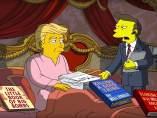'Los Simpson' se burlan de Donald Trump en sus 100 primeros días de mandato