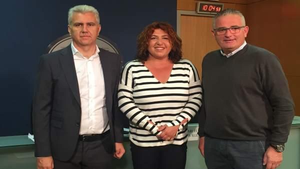 Los diputados de EL PI, Josep Melia, Maria Antònia Sureda y Joan Font